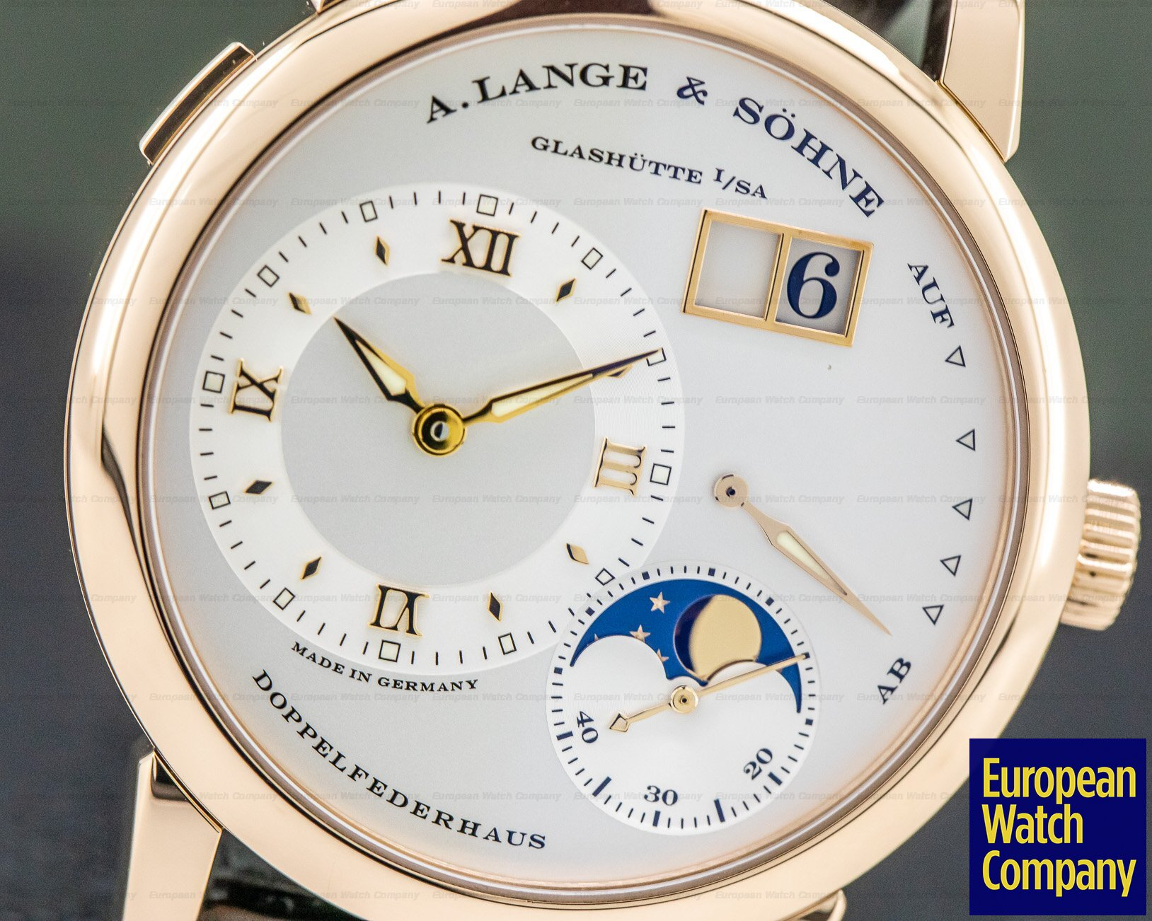 A. Lange and Sohne 109.032 Lange 1 Moon 18K Rose Gold / Tang Buckle