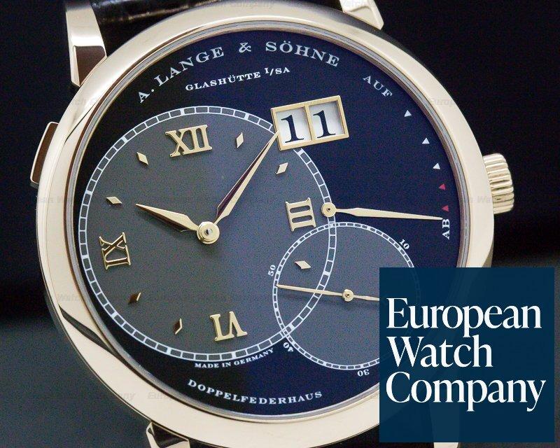 A. Lange and Sohne 115.031 Grand Lange 1 18K Rose Gold Black Dial