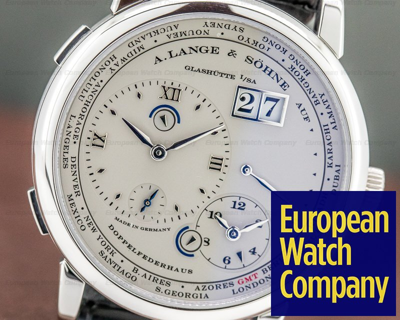 A. Lange and Sohne 116.025 Lange 1 Time Zone Platinum