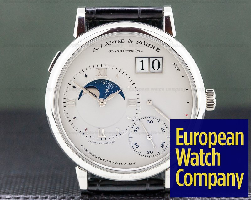 A. Lange and Sohne 139.025 Grande Lange 1 Moon Platinum
