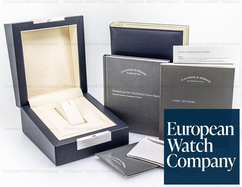 A. Lange and Sohne 140.029 Zeitwerk 140.029 18K White Gold FULL SET