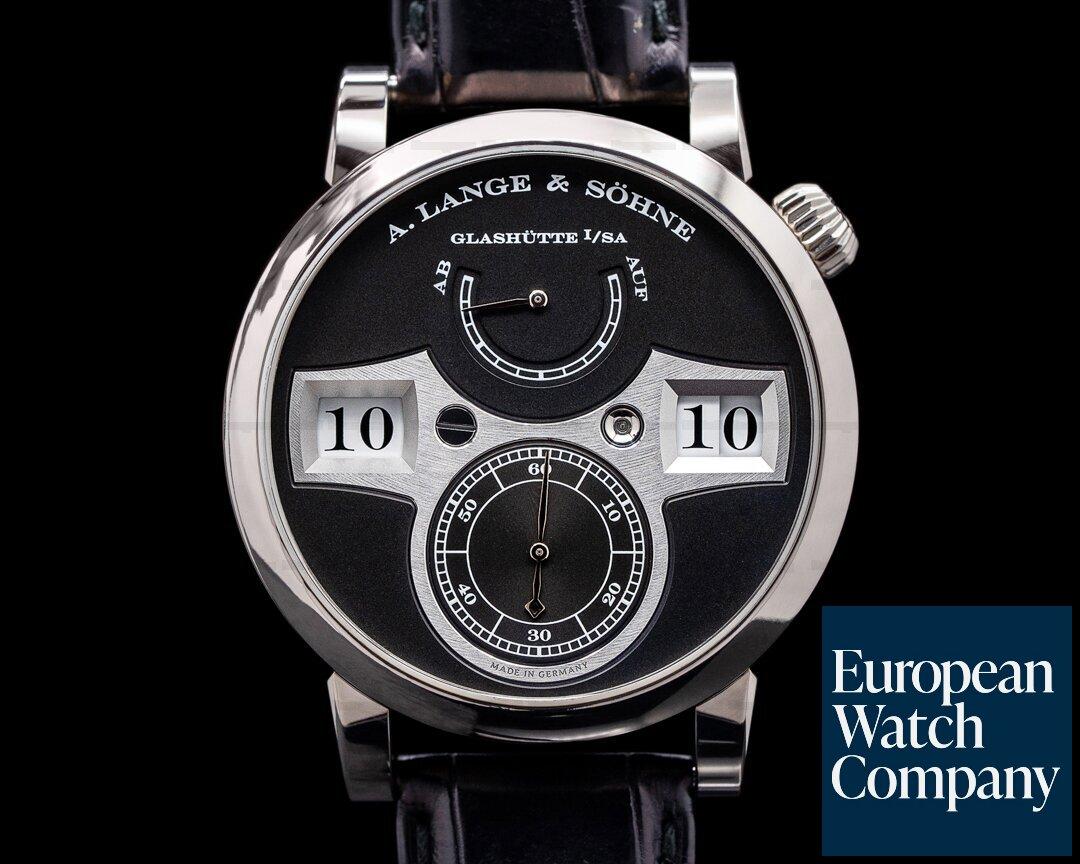 A. Lange and Sohne Zeitwerk 140.029 18K White Gold FULL SET Ref. 140.029