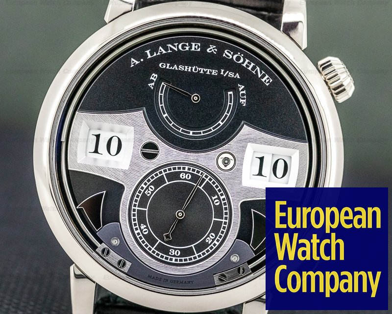 A. Lange and Sohne 145.029 Zeitwerk Striking Time 145.029 18K White Gold