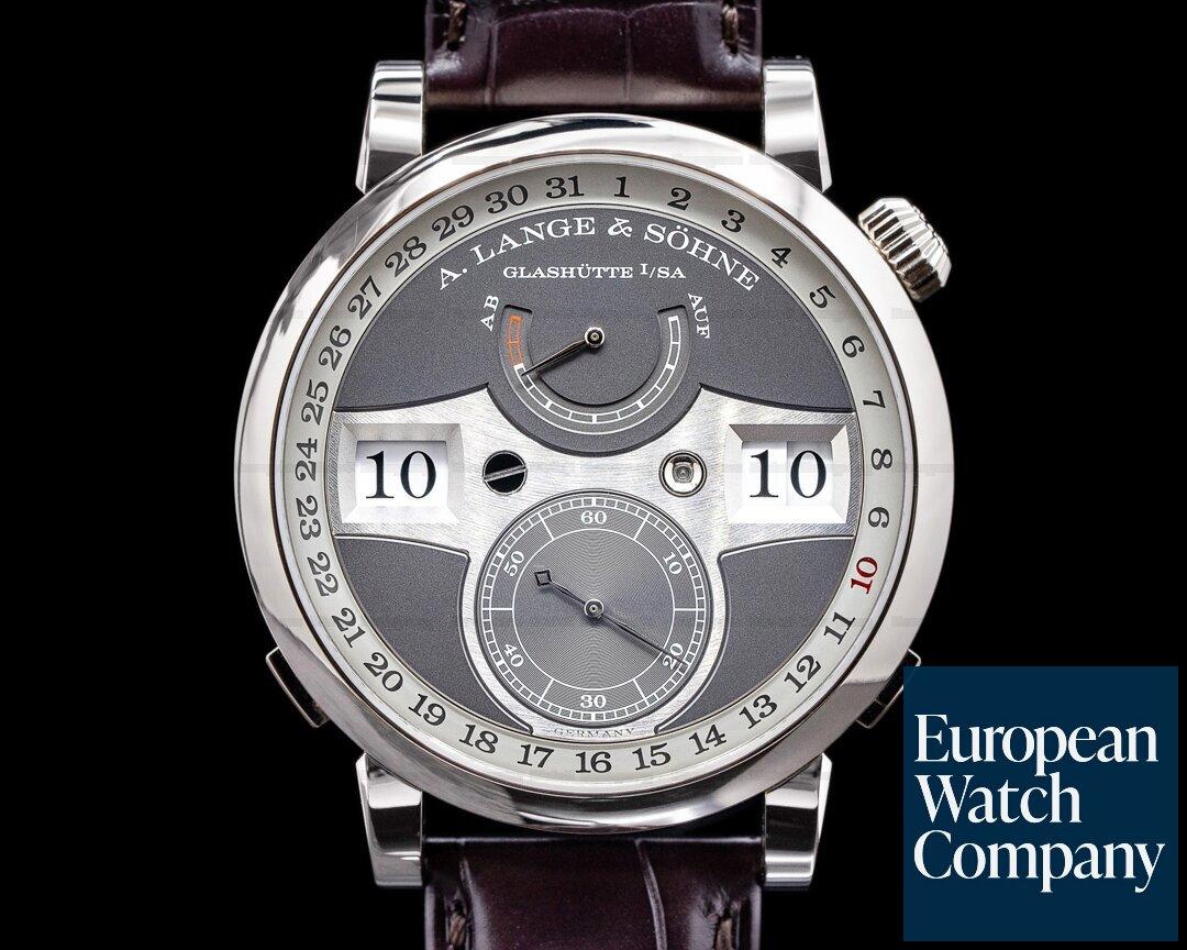 A. Lange and Sohne Zeitwerk Date 148.038 White Gold 2020 NICE Ref. 148.038