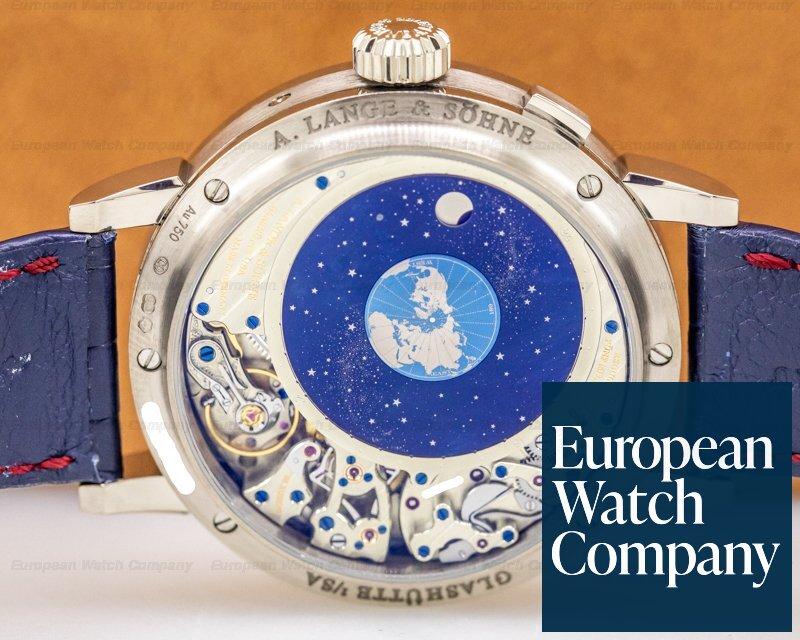 "A. Lange and Sohne 180.026FE Richard Lange Perpetual Calendar ""TERRALUNA"" 18K White Gold"
