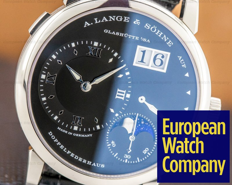 A. Lange and Sohne 192.029 Lange 1 Moon 192.029 18K White Gold Black Dial / Day Night