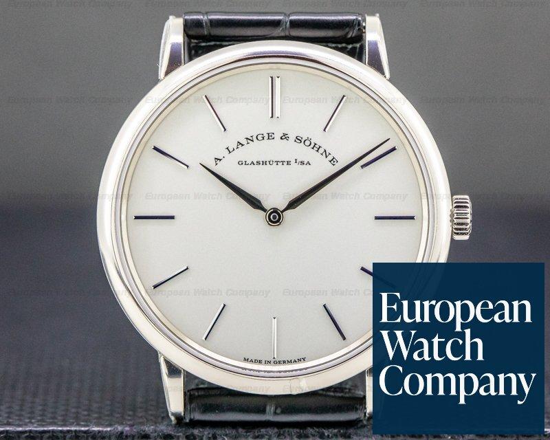 A. Lange and Sohne 201.027 Saxonia Thin Manual Wind 18K White Gold UNWORN