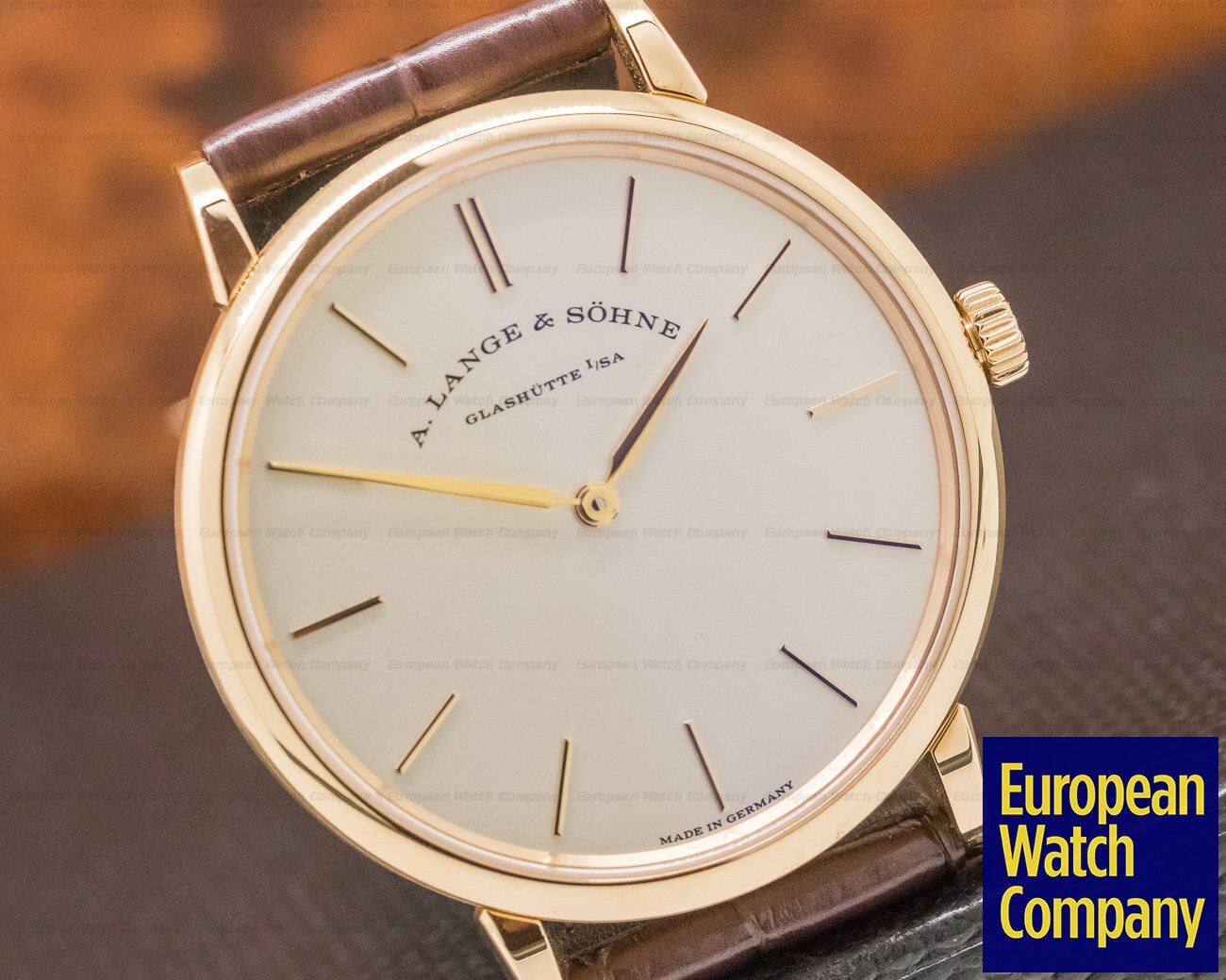 A. Lange and Sohne 201.033 Saxonia Thin Manual Wind 18K Rose Gold