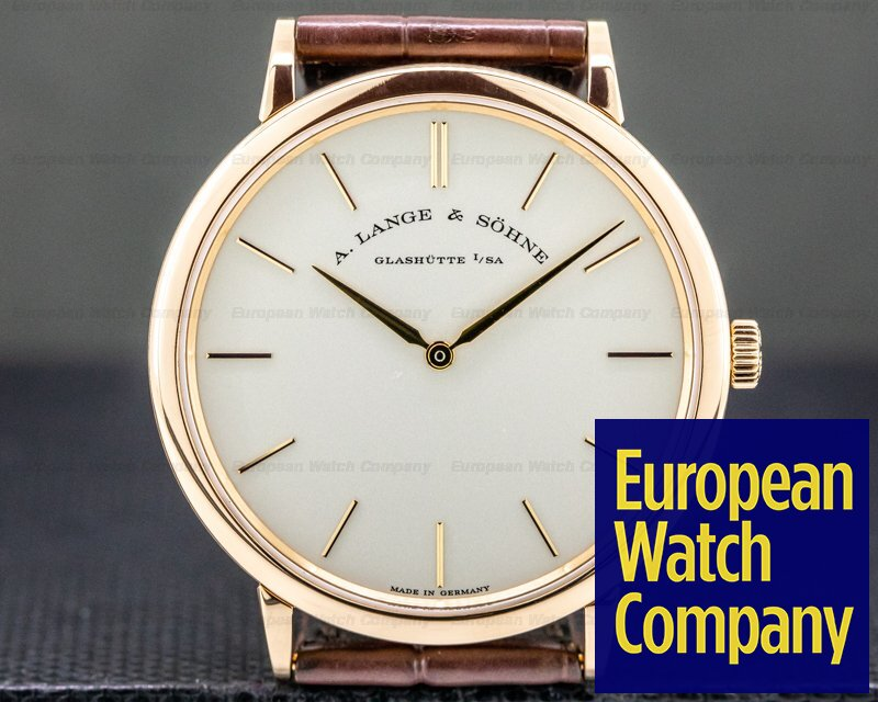 A. Lange and Sohne 211.033 Saxonia Thin Manual Wind 18K Rose Gold 40MM