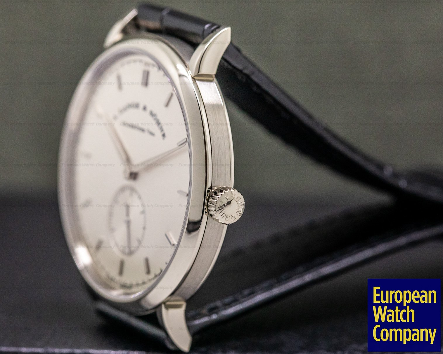 A. Lange and Sohne 216.026 Saxonia Manual Wind 18K White Gold