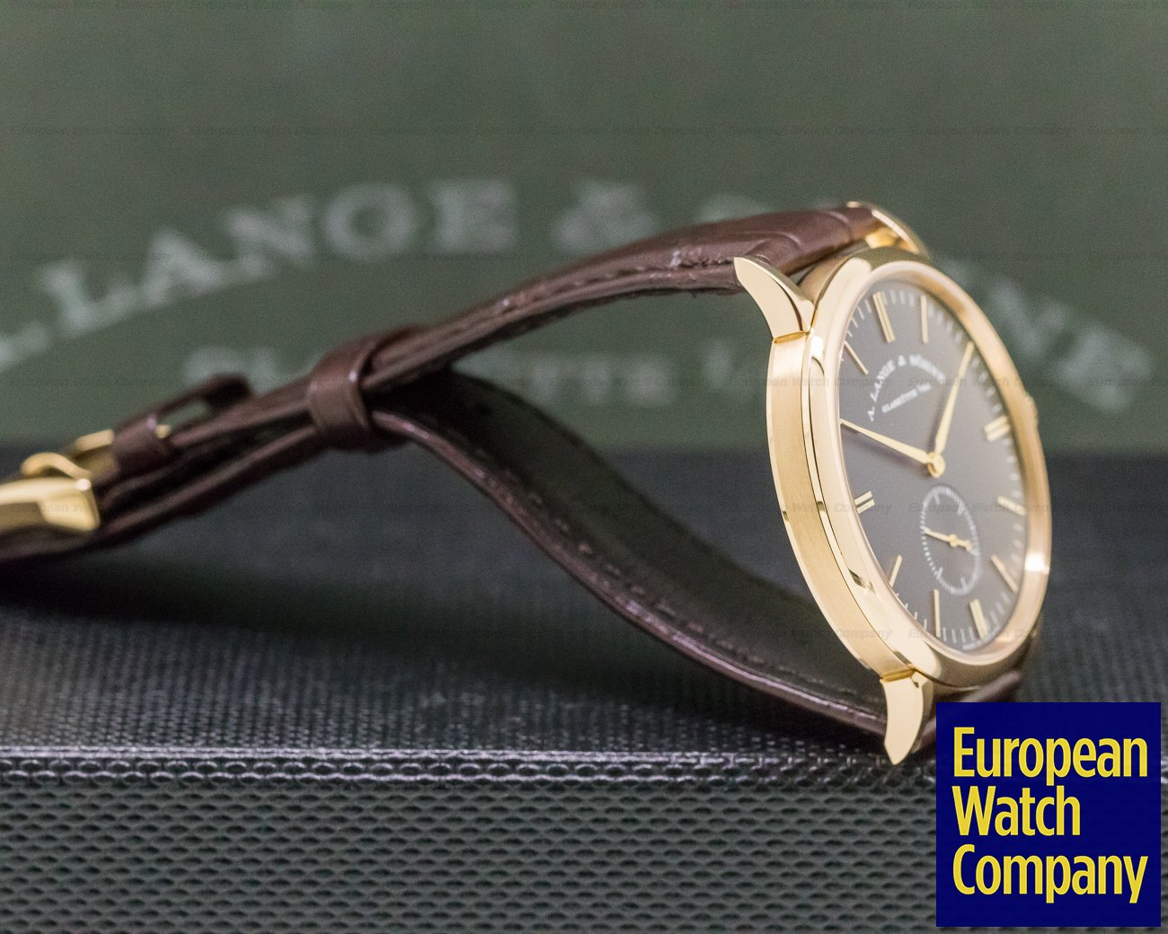 A. Lange and Sohne 216.033 Saxonia Manual Wind 18K Rose / Grey Dial BOUTIQUE ONLY