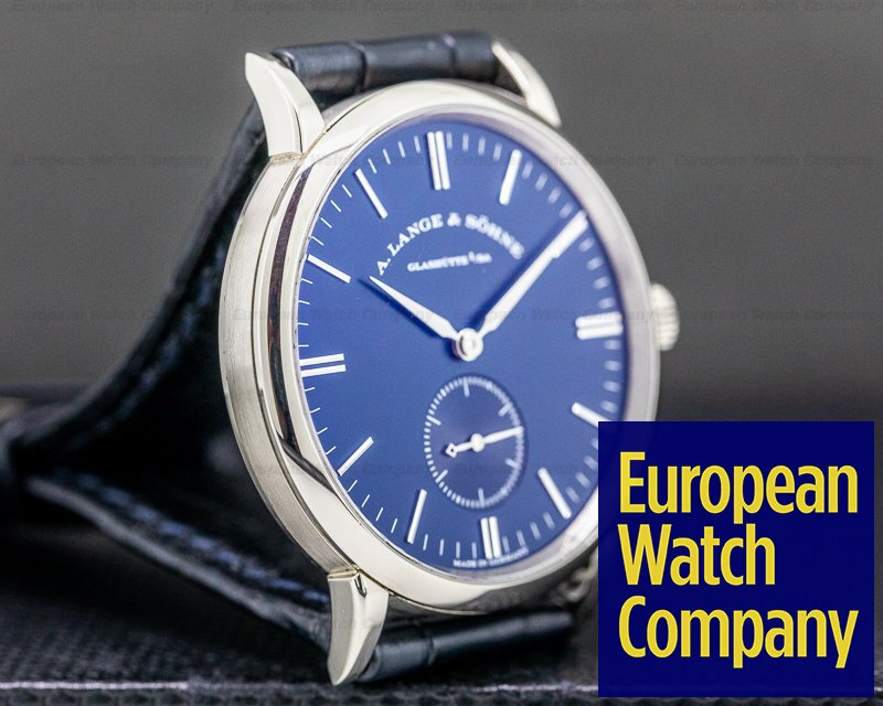 A. Lange and Sohne 219.028 Saxonia 219.028 Manual Wind 18K White Gold Blue Dial 35MM
