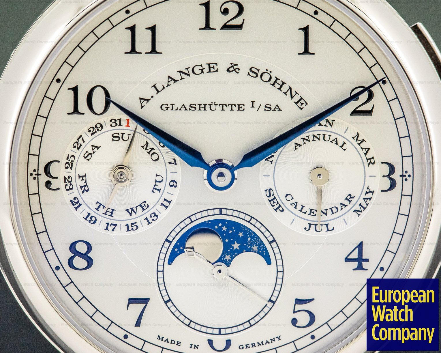 A. Lange and Sohne 238.026 1815 Annual Calendar 18k White Gold UNWORN