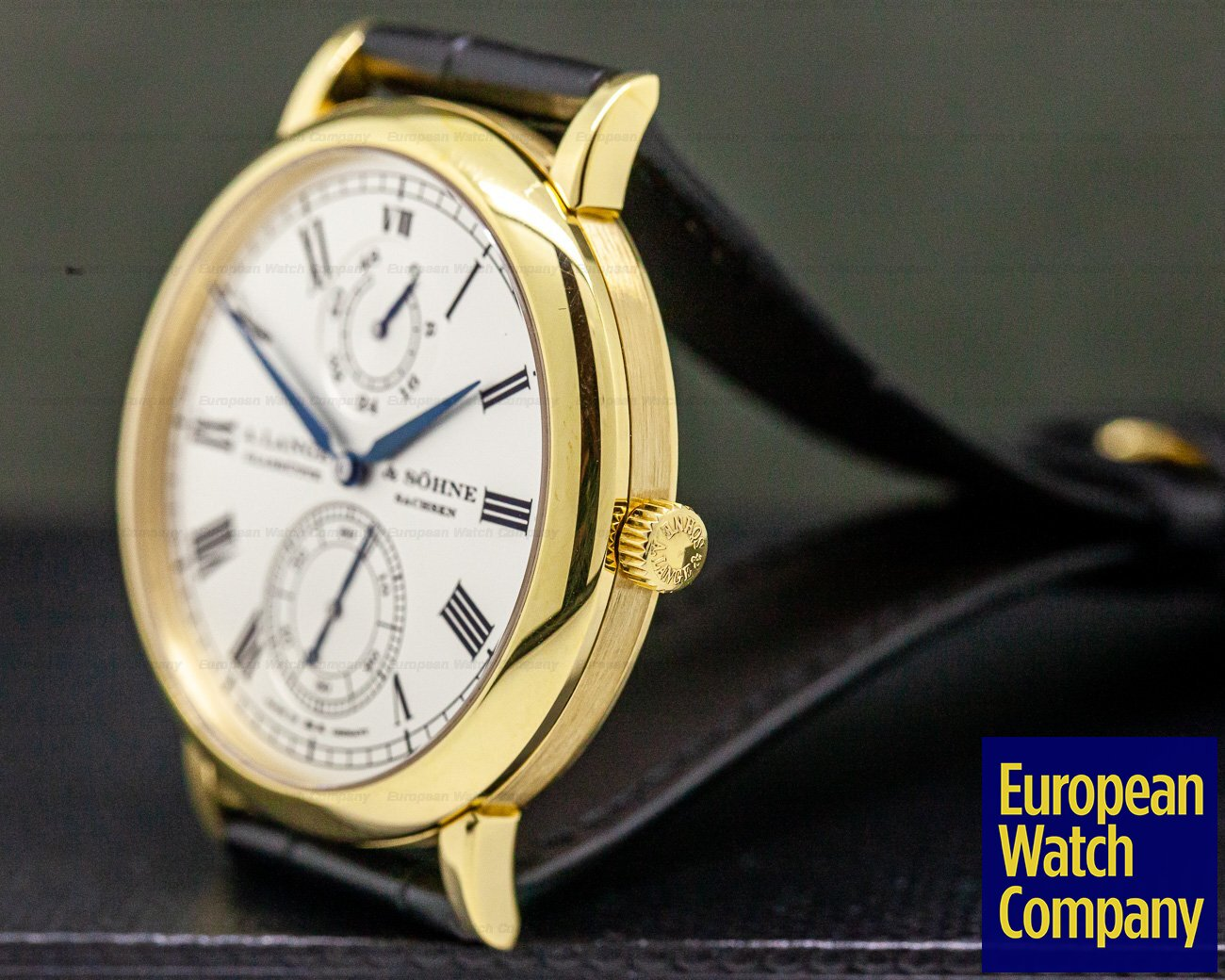 A. Lange and Sohne 304.048 Grosse Langematik Gangreserve Limited WEMPE 18k Yellow