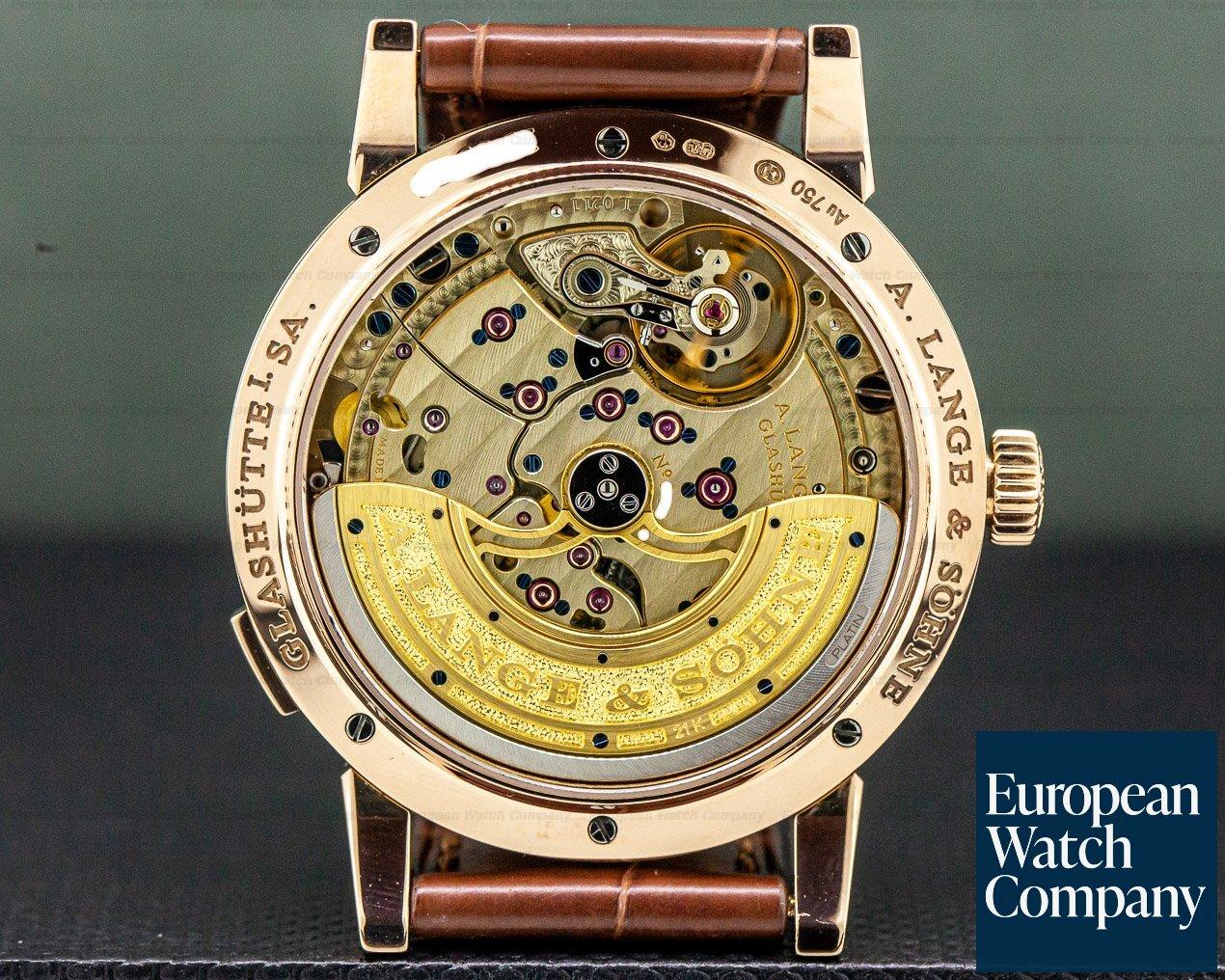 A. Lange and Sohne 320.032 Lange 1 Daymatic 18K Rose Gold / Deployant