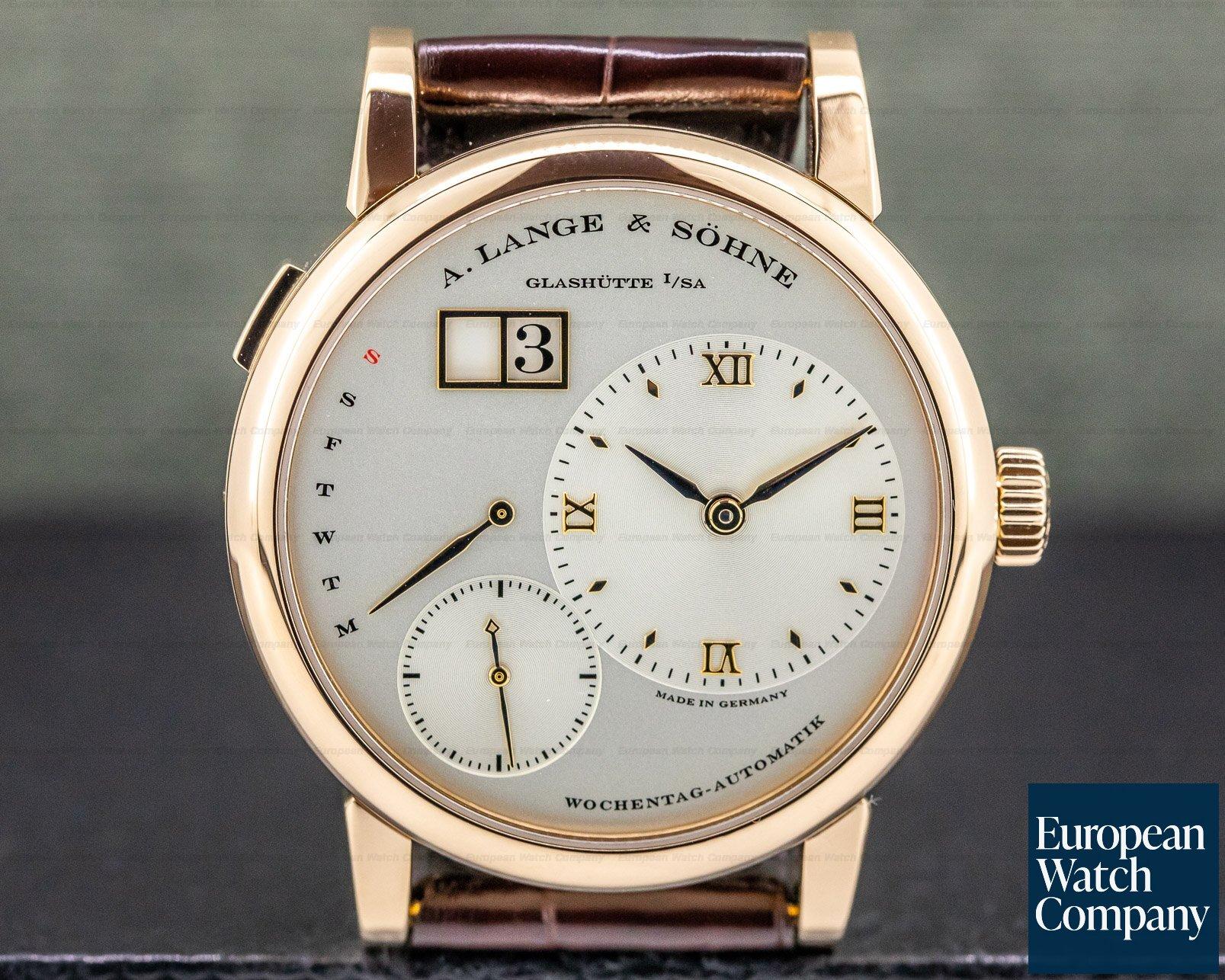 A. Lange and Sohne 320.032 Lange 1 Daymatic 18K Rose Gold / Deployant Buckle