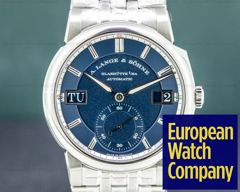 A. Lange and Sohne 363.179 Odysseus 363.179 Stainless Steel Blue Dial UNWORN