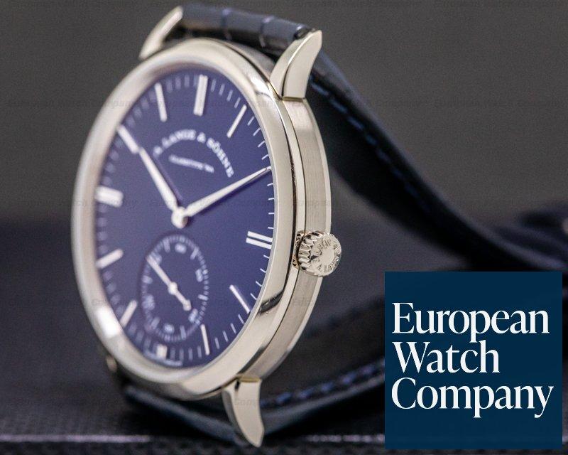A. Lange and Sohne 380.026 Saxonia BLUE DIAL Automatik 18K White Gold NOVELTY
