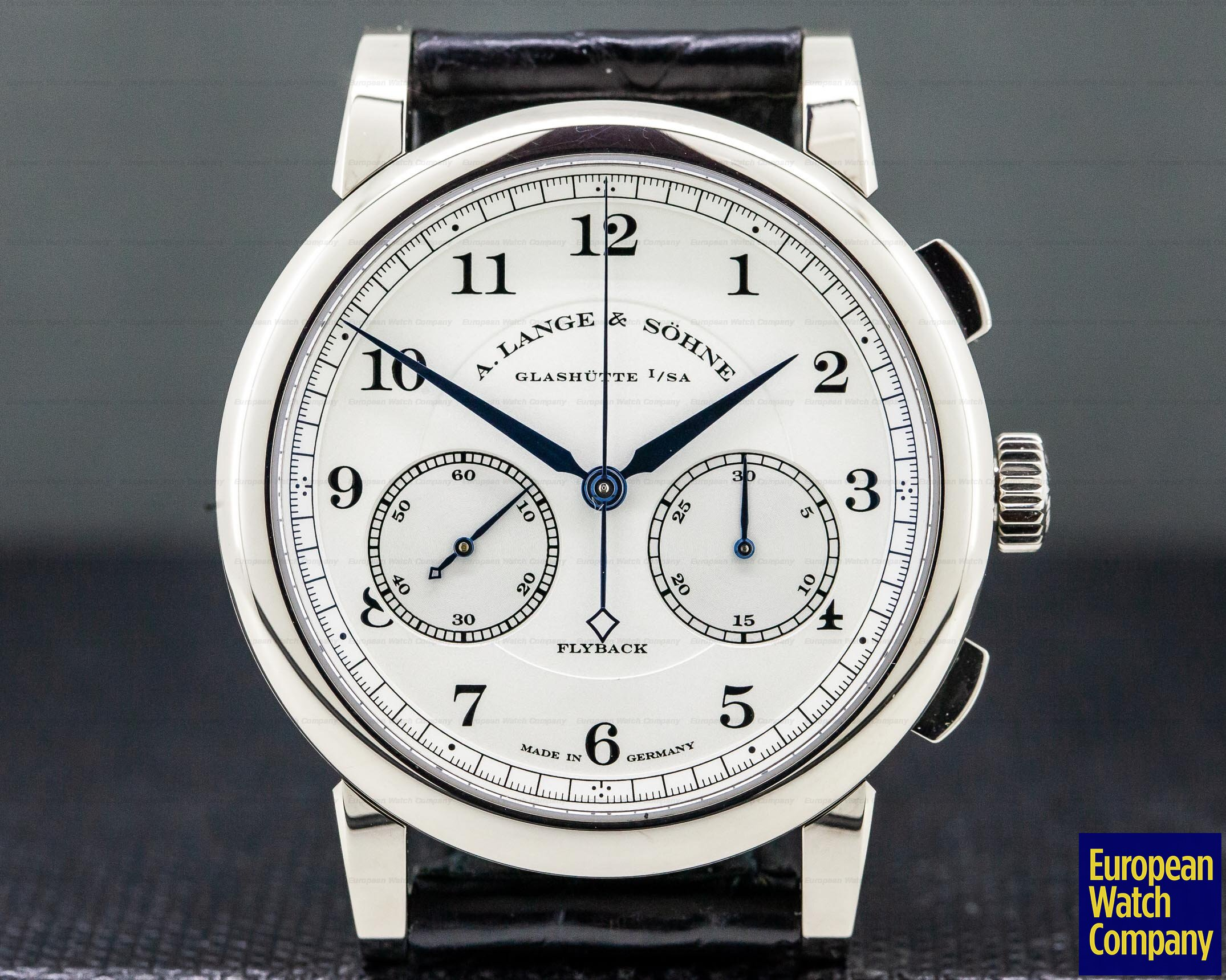 A. Lange and Sohne 402.026 1815 Chronograph 18K White Gold