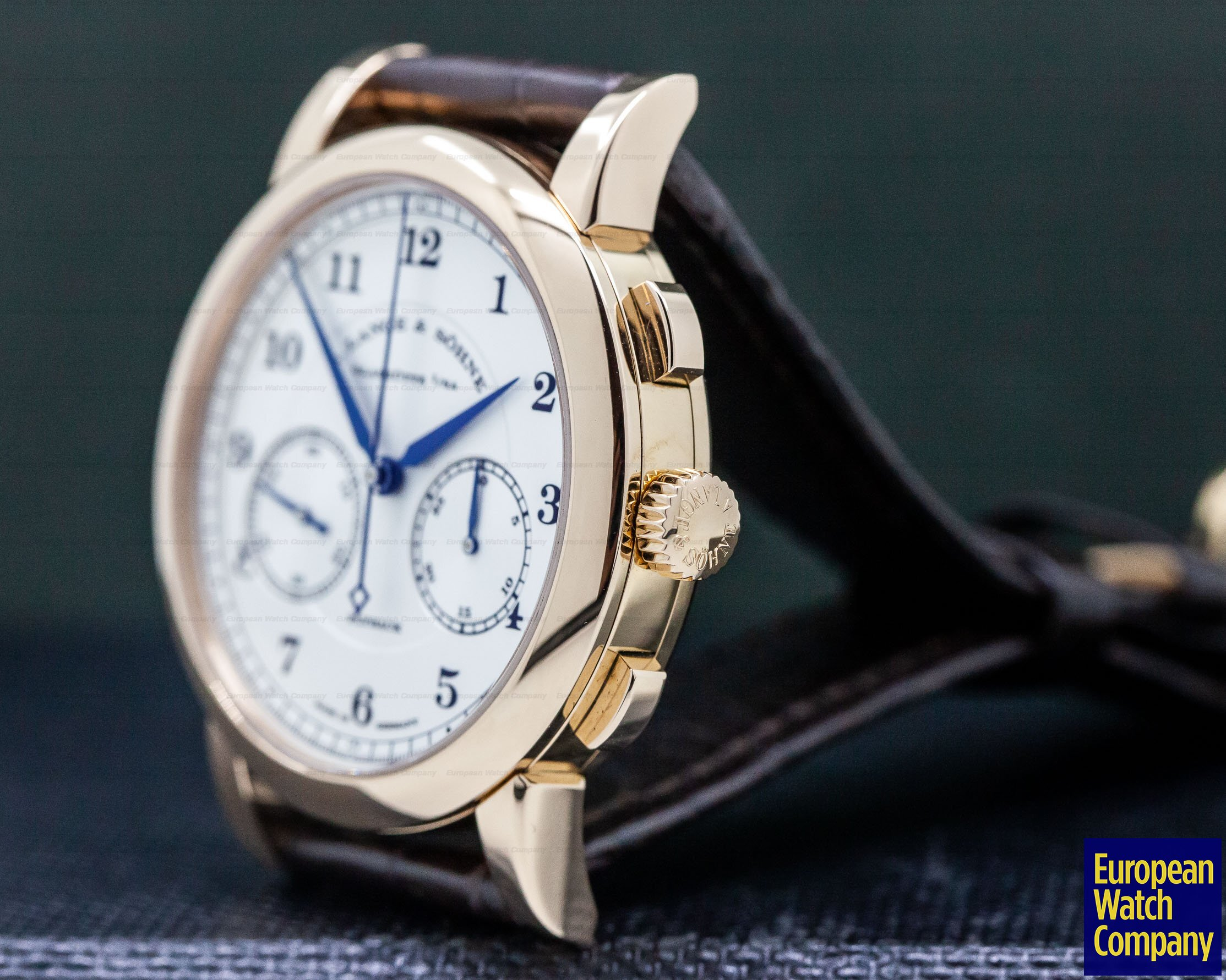 A. Lange and Sohne 402.032 1815 Chronograph 18K Rose Gold Silver Dial