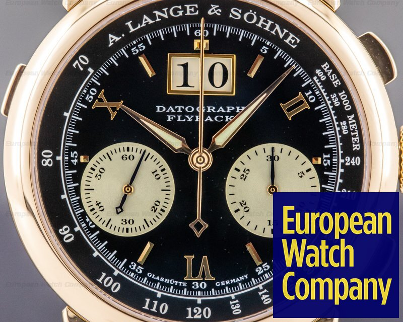 "A. Lange and Sohne 403.031 Datograph 18K Rose Gold Black Dial ""DUFOUR"""