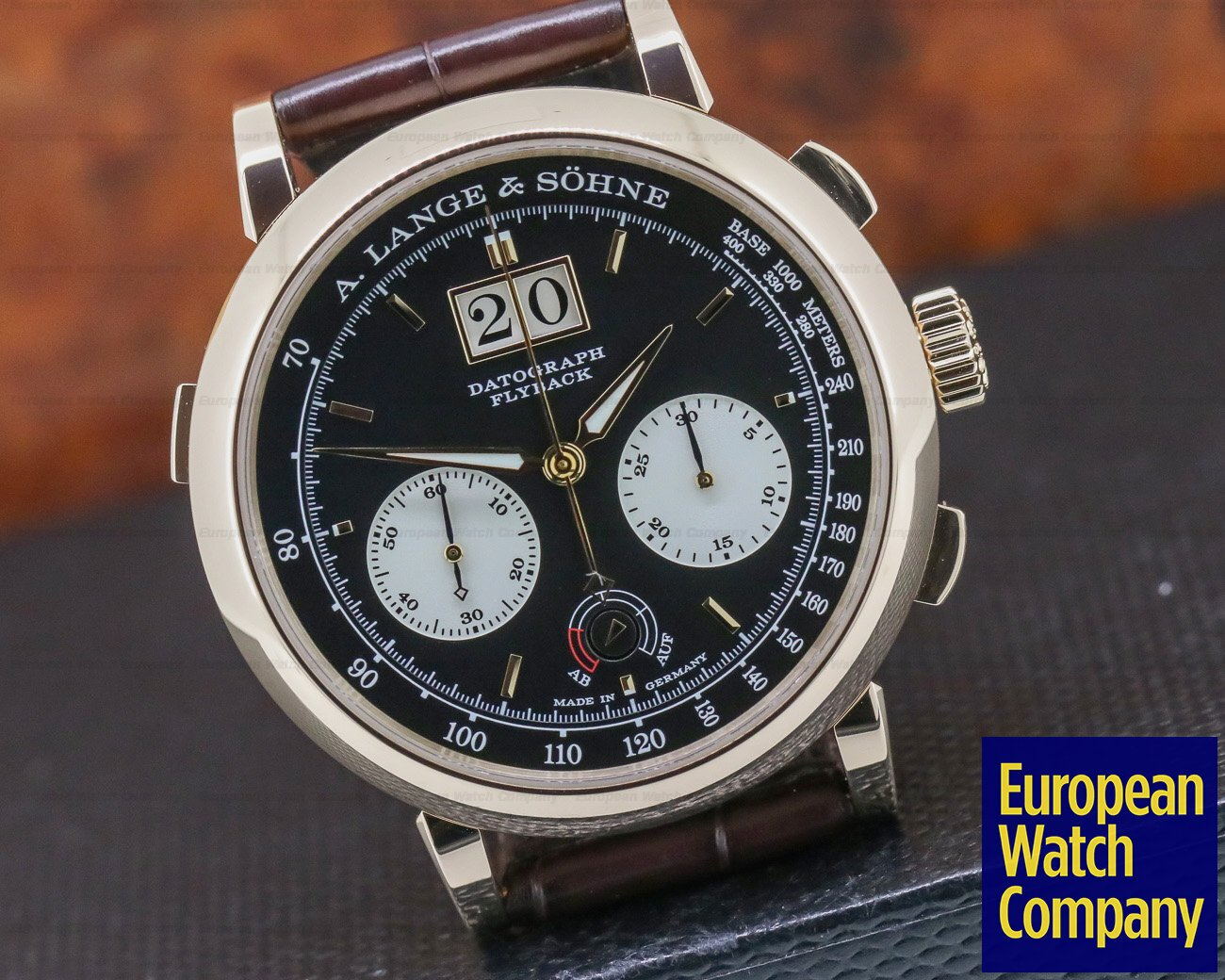 A. Lange and Sohne 405.031 Datograph Up / Down 18k Rose Gold