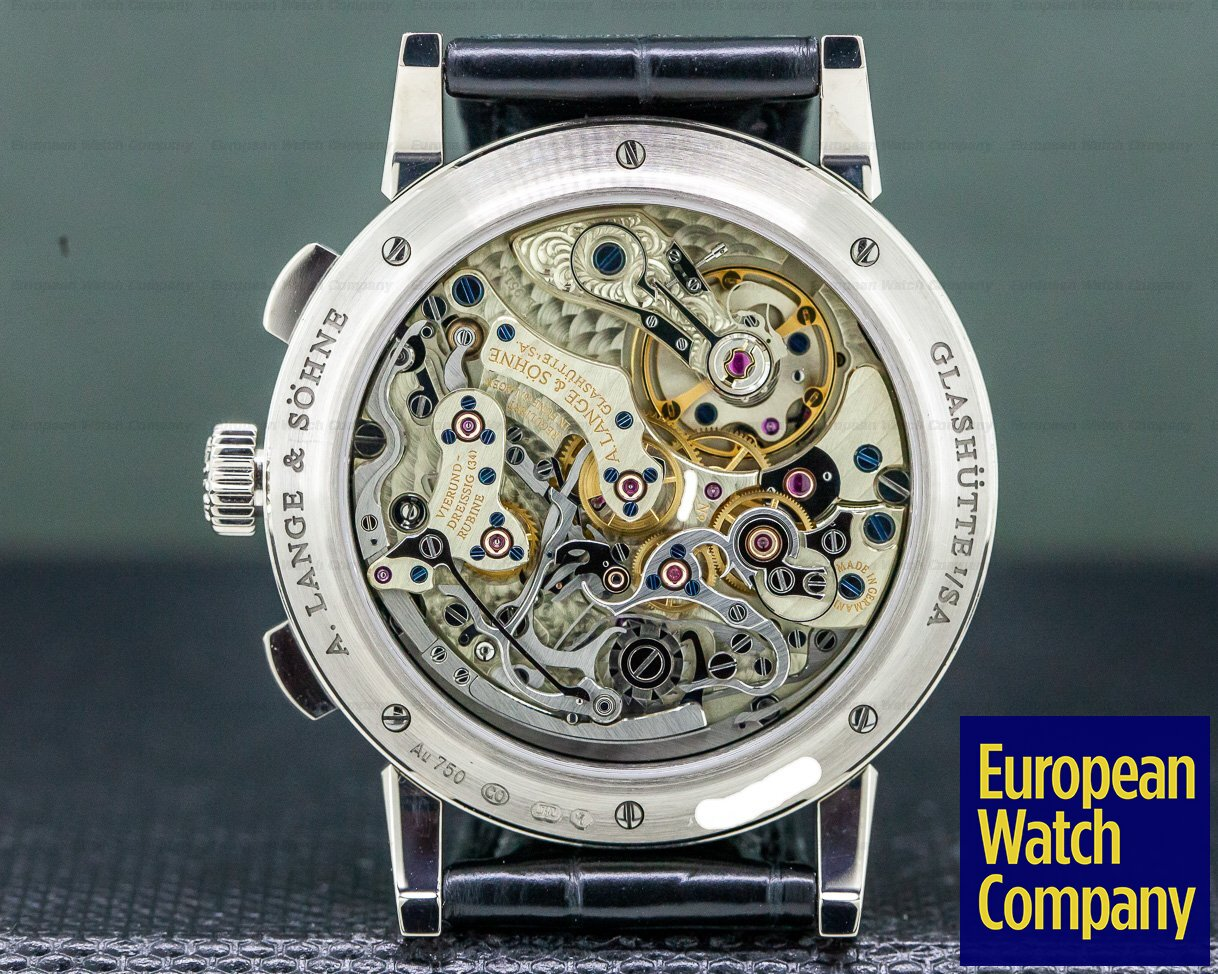 A. Lange and Sohne 414.028 1815 Chronograph 18K White Gold