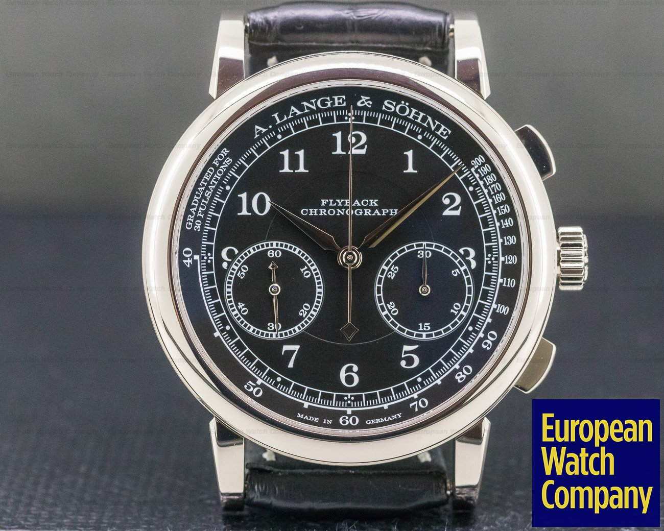 A. Lange and Sohne 414.028 1815 Chronograph 18K White Gold DEPLOYANT BUCKLE 2018