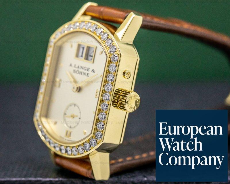 A. Lange and Sohne 801.021 Ladies Arkade 18K Yellow Gold Diamond Bezel