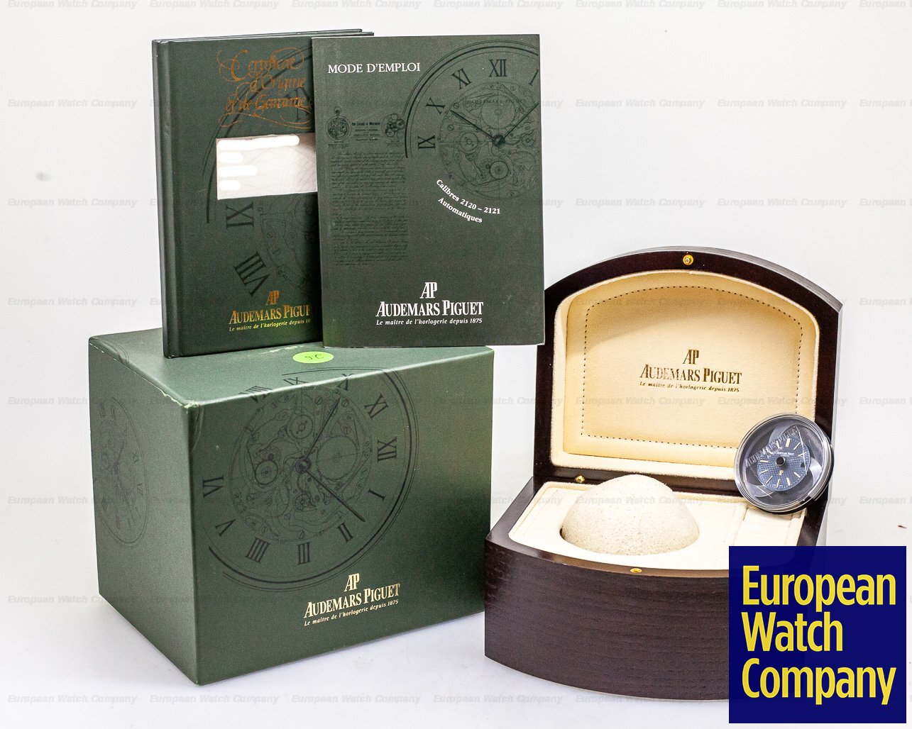 Audemars Piguet 15202BA.O.0944BA.01 Royal Oak Jumbo 18k Yellow Gold / Extra white Dial FULL SET