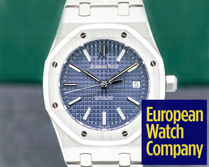 Audemars Piguet 15300ST.OO.1220ST.02 Royal Oak BLUE Dial 15300ST SS FULL SET