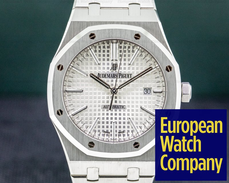 Audemars Piguet 15400ST.OO.1220ST.02 Royal Oak 15400ST White Dial SS FULL SET