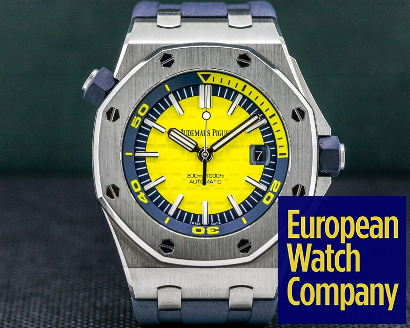 Audemars Piguet 15710ST.OO.A051CA.01 Royal Oak Offshore Diver Yellow / Rubber