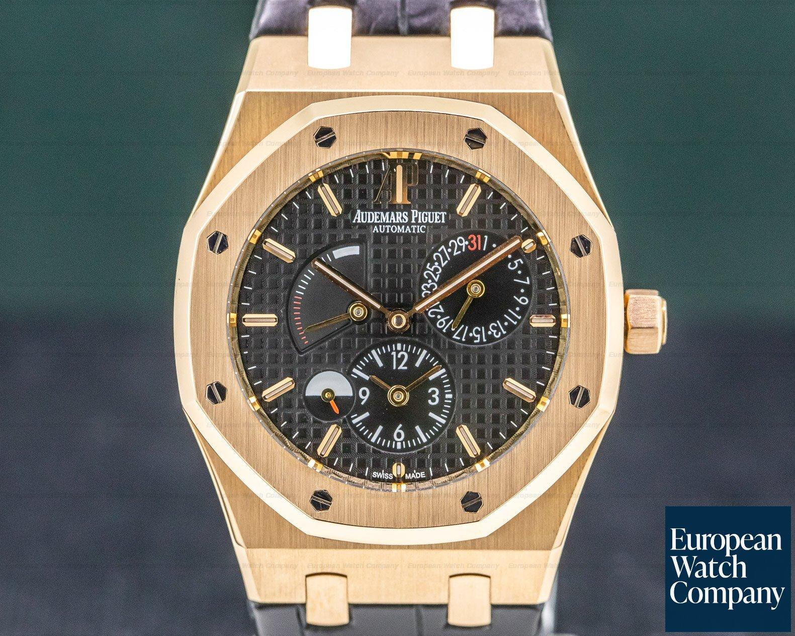 Audemars Piguet 26120OR.OO.D002CR.01 Royal Oak Dual Time 18K Rose Gold / Black Dial