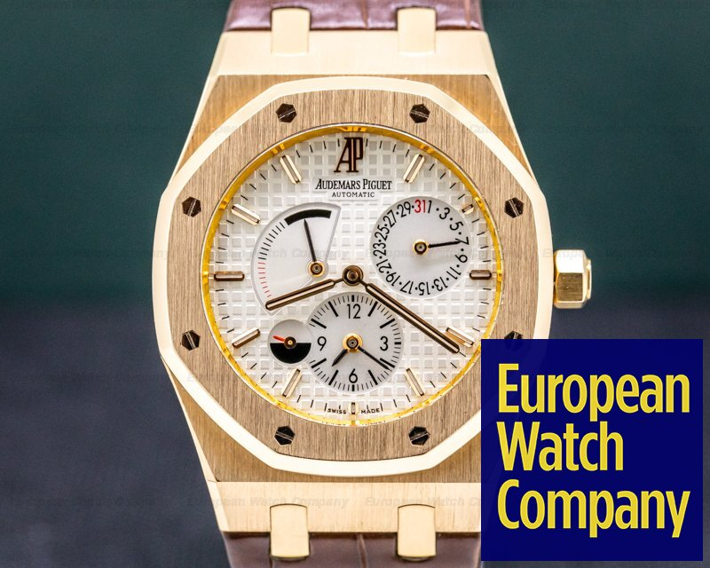 Audemars Piguet 26120OR.OO.D088CR.01 Royal Oak Dual Time 18K Rose Gold / Silver Dial