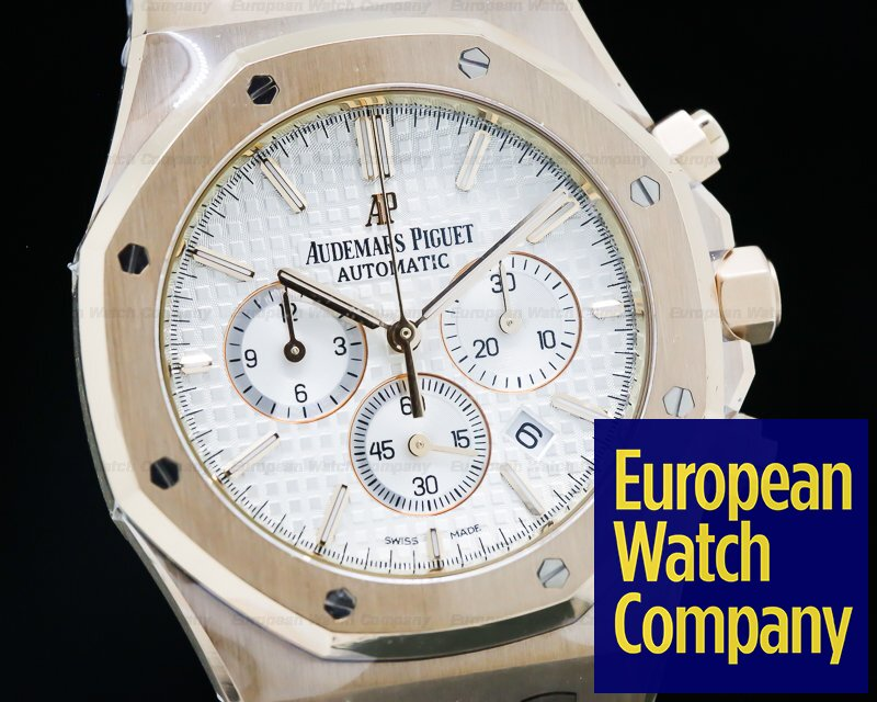 Audemars Piguet 26320OR.OO.D088CR.01 Royal Oak Chronograph Silver Dial / Brown Strap UNWORN
