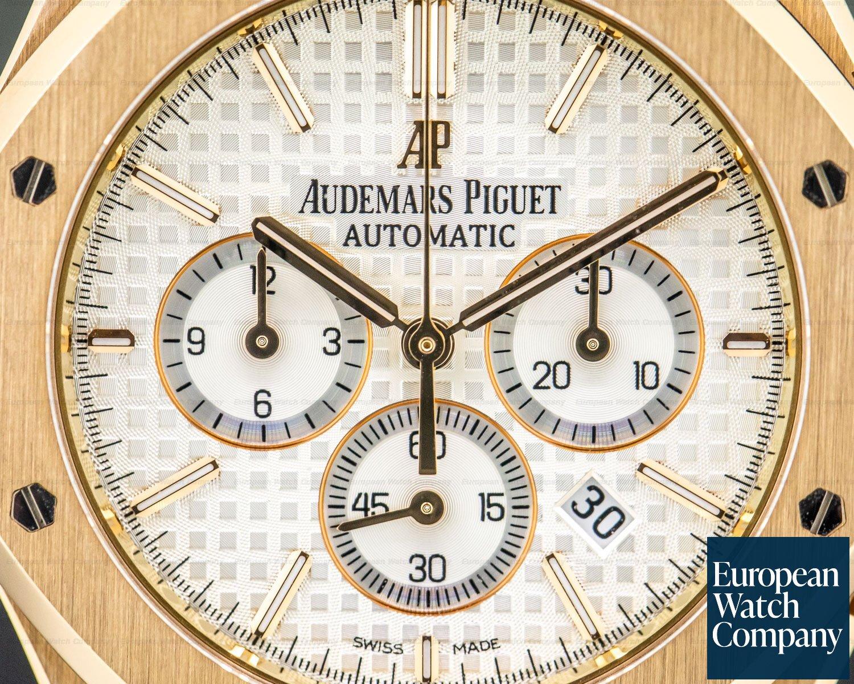 Audemars Piguet 26320OR.OO.D088CR.01 Royal Oak Chronograph Silver Dial / Brown Strap