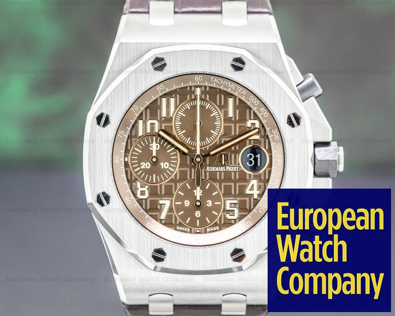 "Audemars Piguet 26470ST.00.A820CR.01 Royal Oak Offshore Brown ""Havana"" Dial SS"