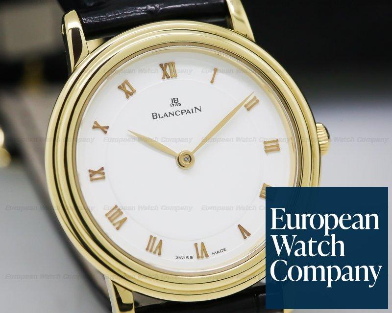 Blancpain 0022-1418-65 Villeret Ladies Ultra Slim 18K Yellow Gold