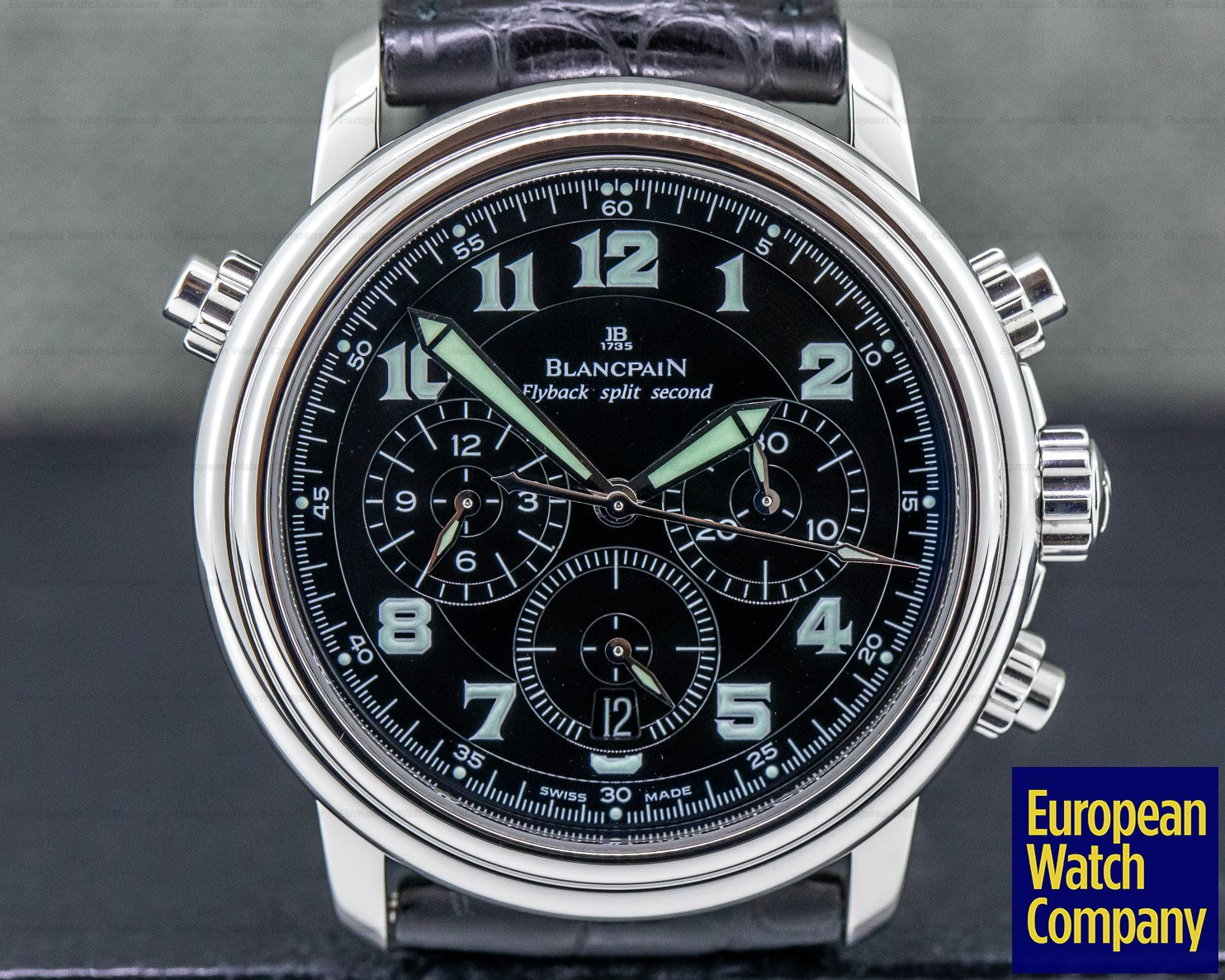 Blancpain 2086F-1130M-53B Flyback Rattapante Black Military Dial 40MM