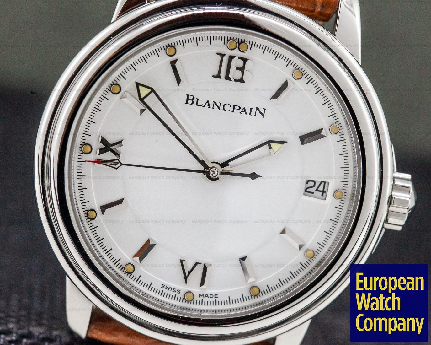 Blancpain 2100-1127 Leman SS White Dial 38MM