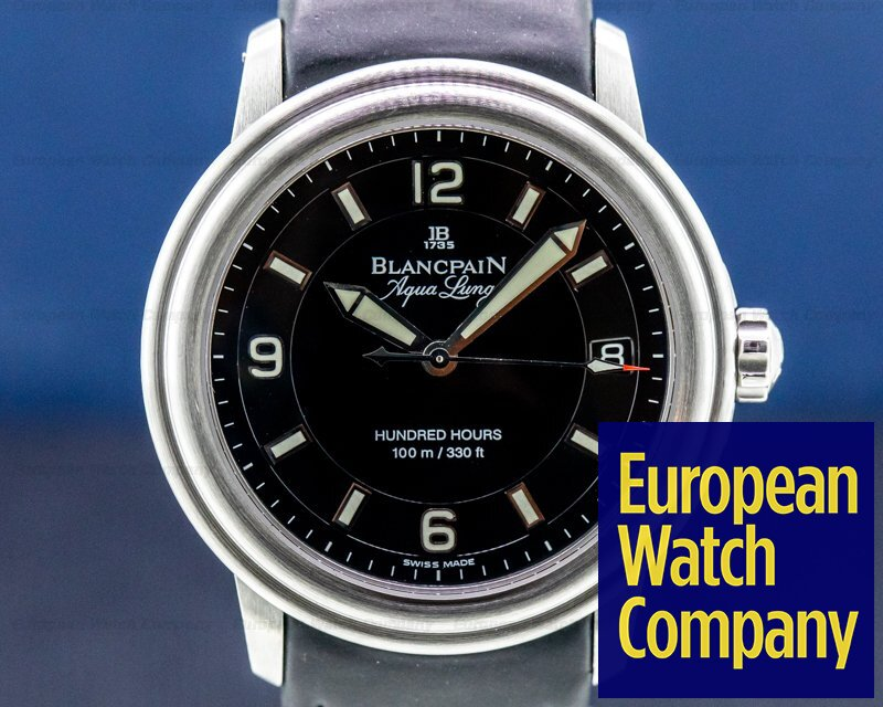 Blancpain 2100-1130A-71 Leman Aqualung Ultra Slim Automatic SS / Strap