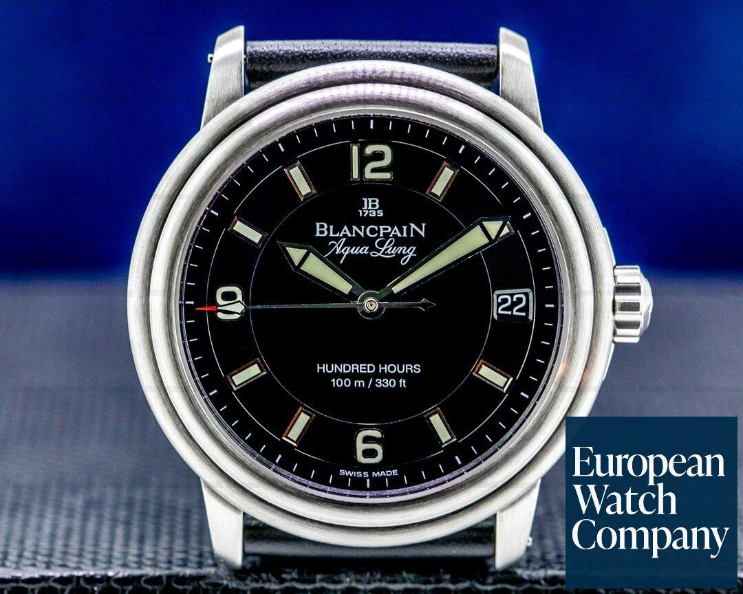 Blancpain Leman Aqualung Ultra Slim Automatic SS / Strap Ref. 2100-1130A-71