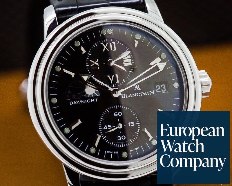 Blancpain 2160-1130-53 Leman Timezone Dual Time SS Black Dial
