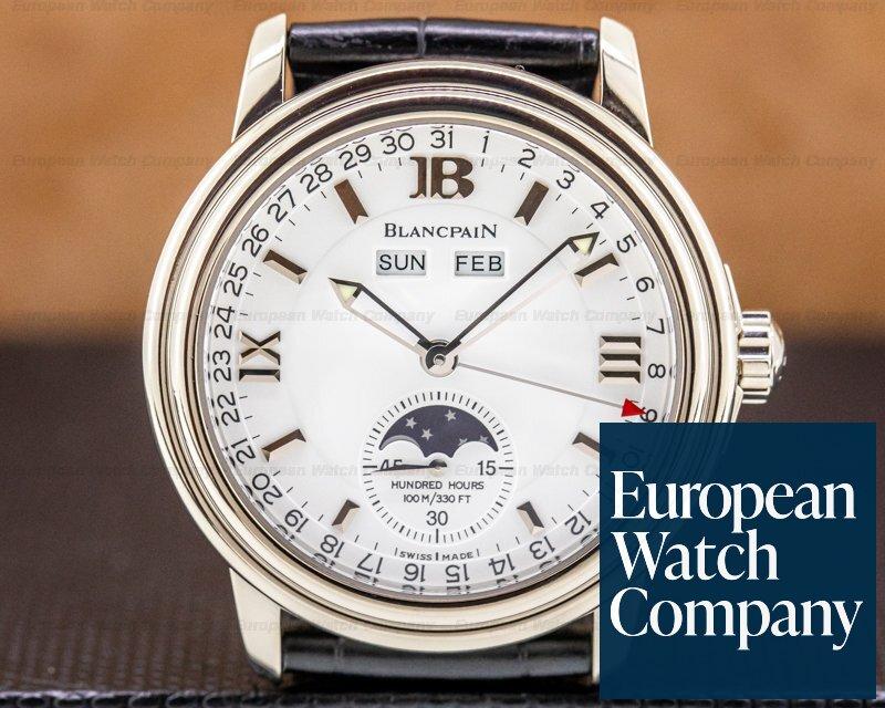 Blancpain 3563-1542-53 Leman Complete Calendar White Gold / White Dial