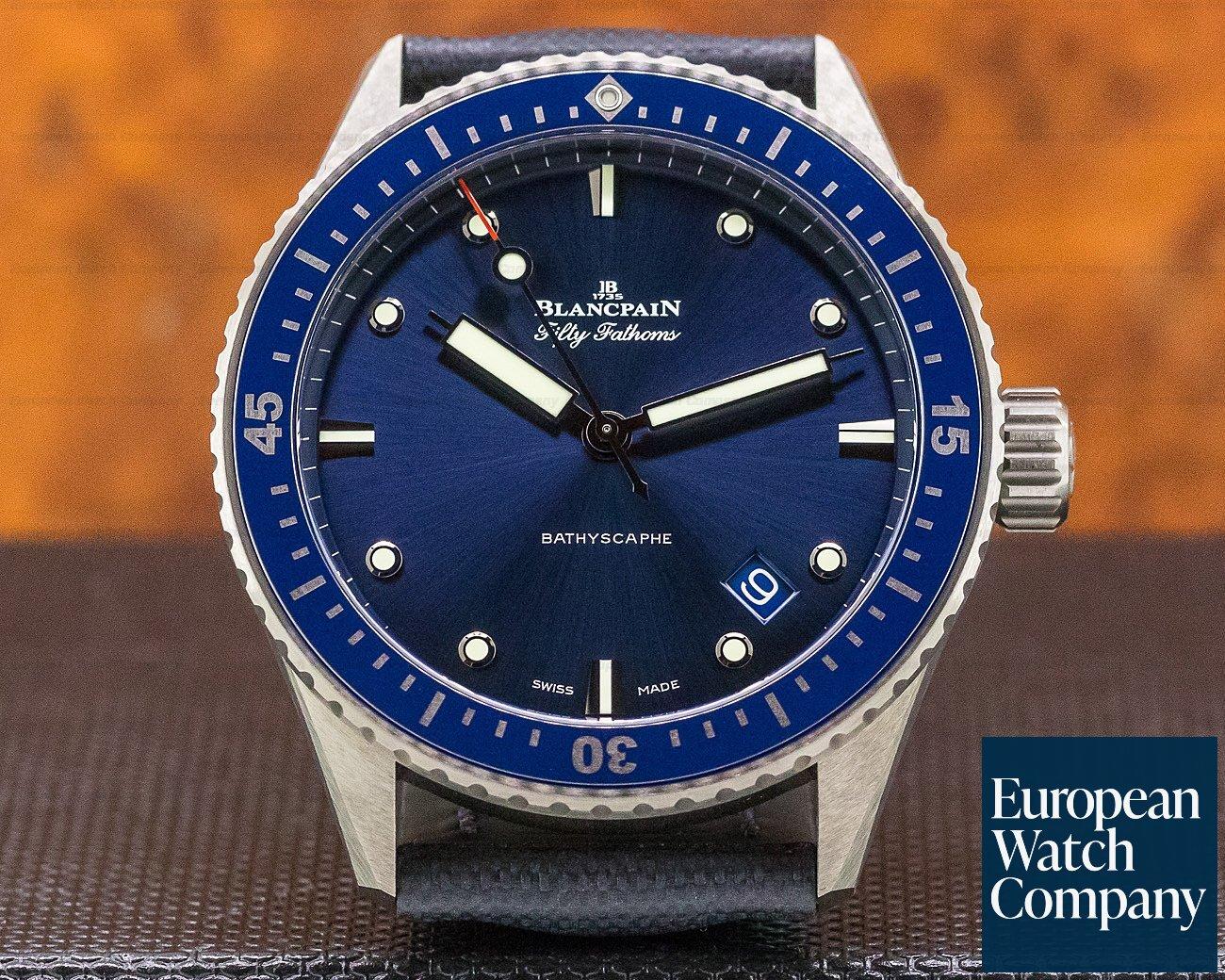 Blancpain 5000-0240-o52a Fifty Fathoms Bathyscaphe Ceramic Blue