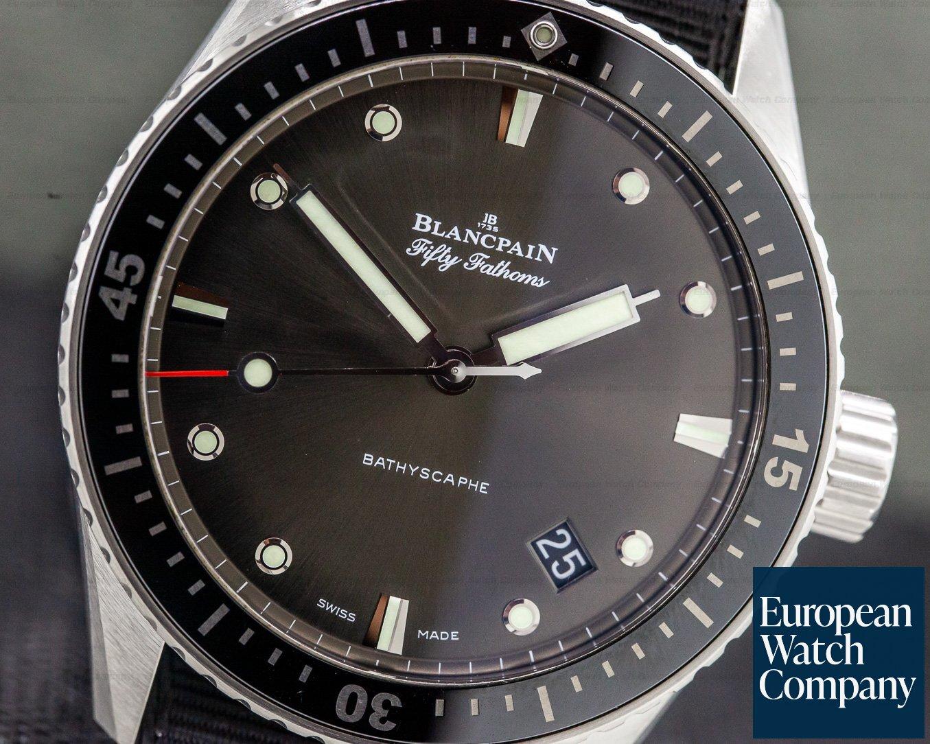 Blancpain 5000-1110-b52a Fifty Fathoms Bathyscaphe Automatic SS