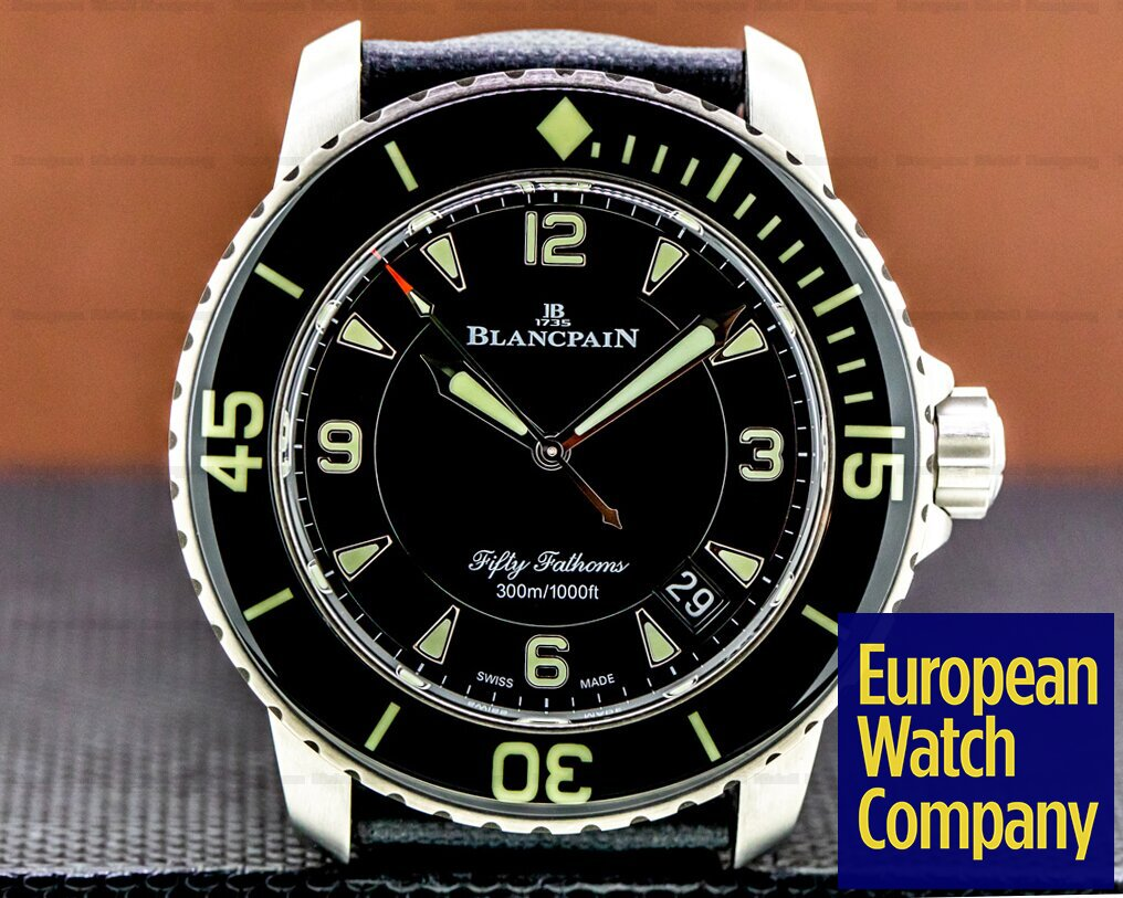 Blancpain Fifty Fathoms / Black Dial Titanium Ref. 5015-12B30-O52A