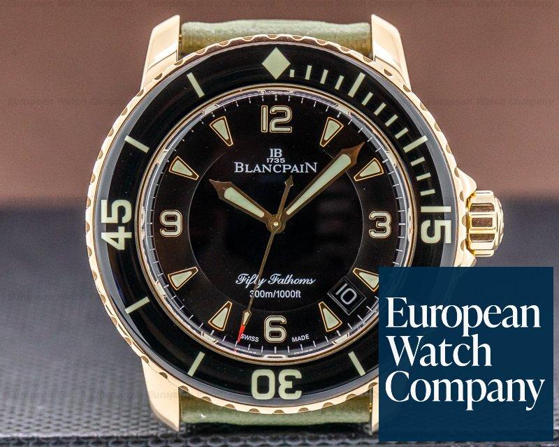 Blancpain 5015-3630-52 Fifty Fathoms 18K Rose Gold / Kevlar