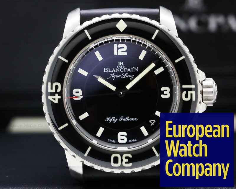 "Blancpain 5015C-1130-52B Fifty Fathoms ""Tribute to Aqualung"" SS / Rubber"